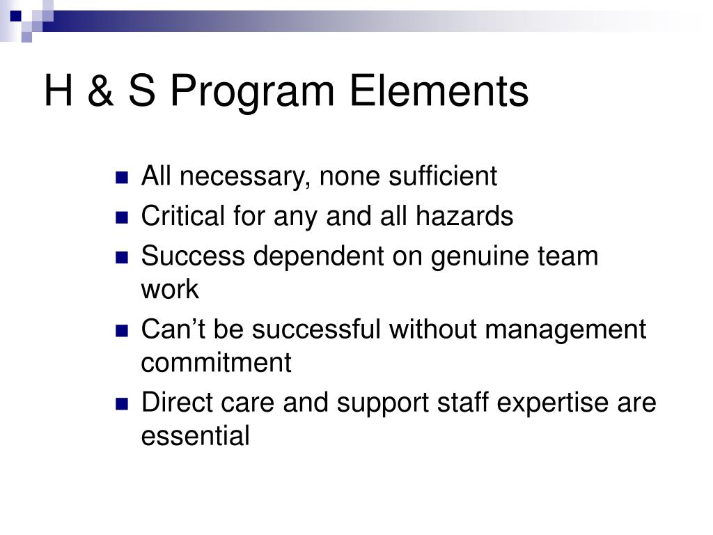 H & S Program Elements