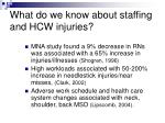what do we know about staffing and hcw injuries