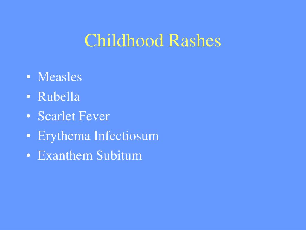 Childhood Rashes