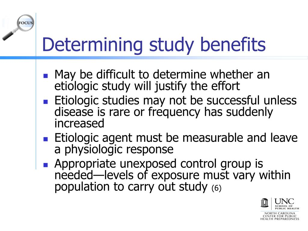 Determining study benefits