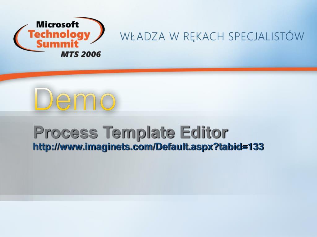 Process Template Editor