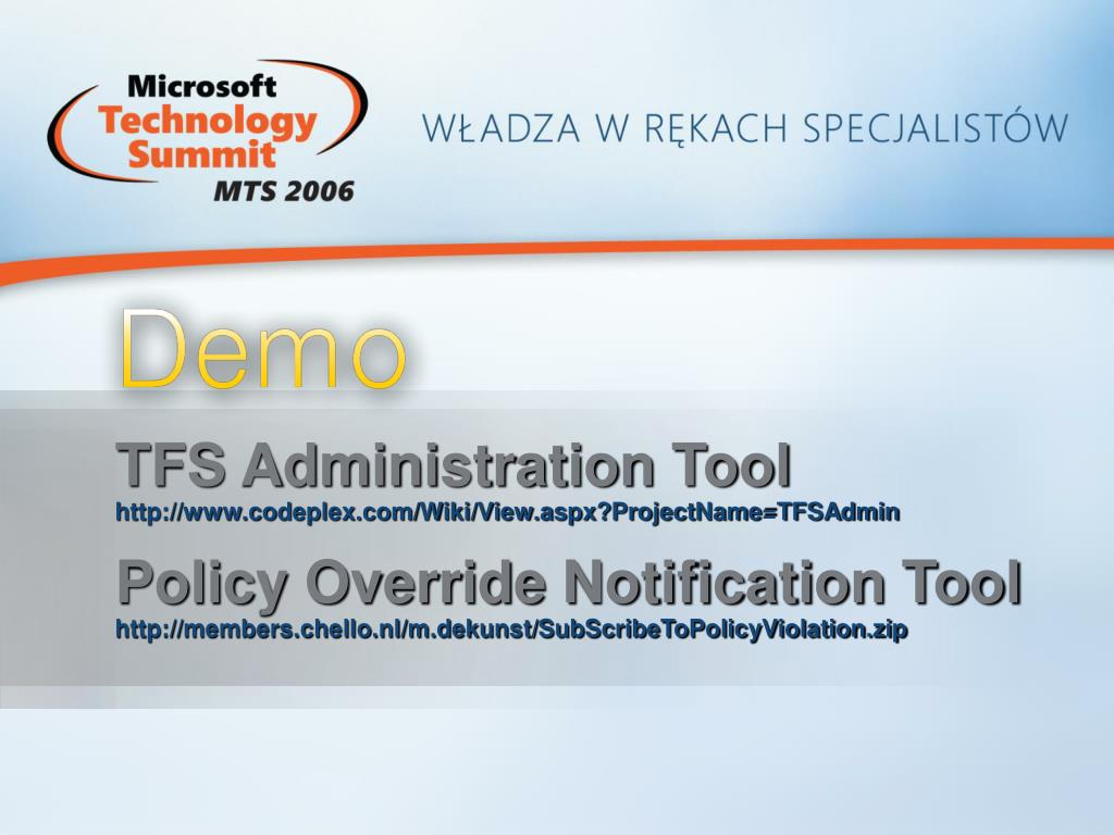 TFS Administration Tool