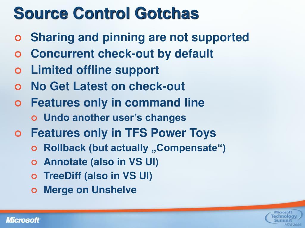 Source Control Gotchas