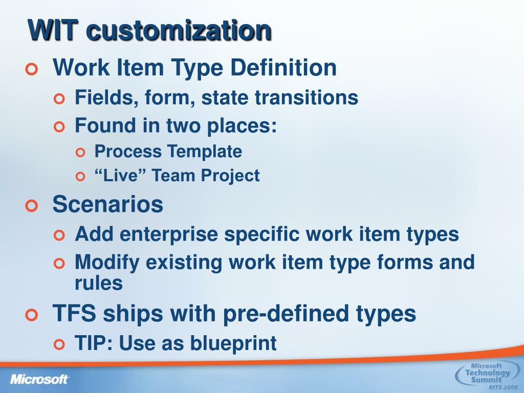 WIT customization