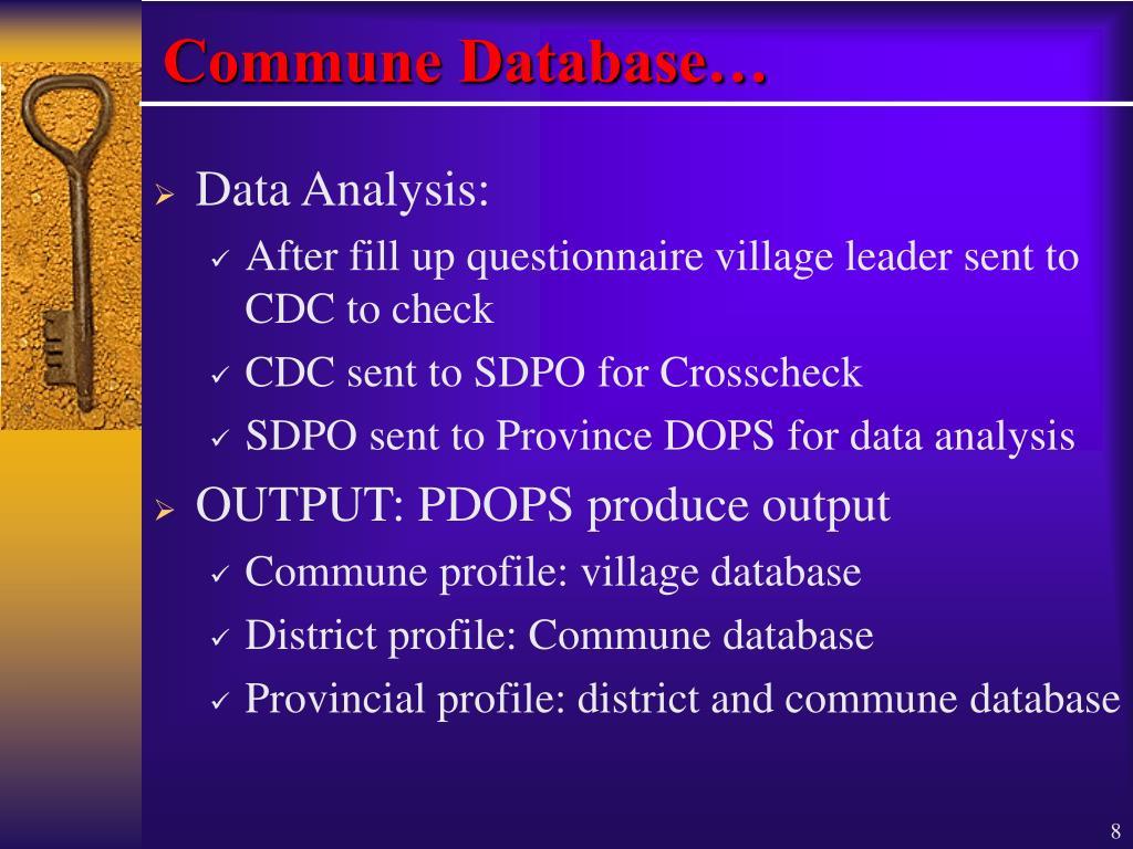 Commune Database…