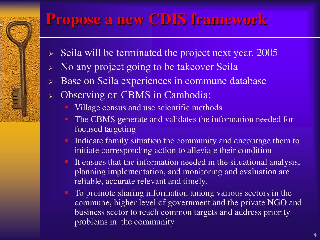 Propose a new CDIS framework