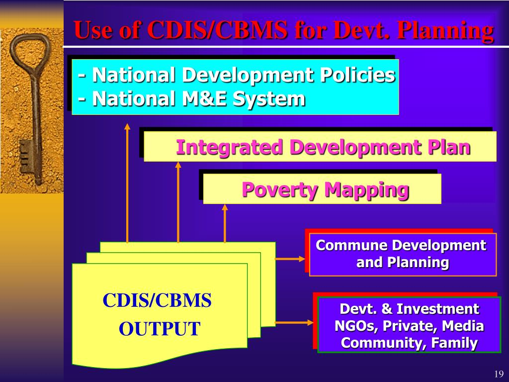 Use of CDIS/CBMS for Devt. Planning