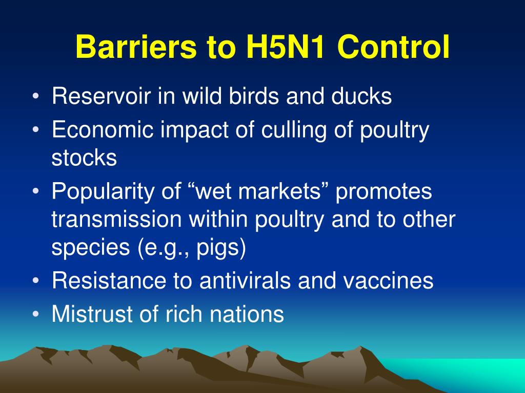 Barriers to H5N1 Control