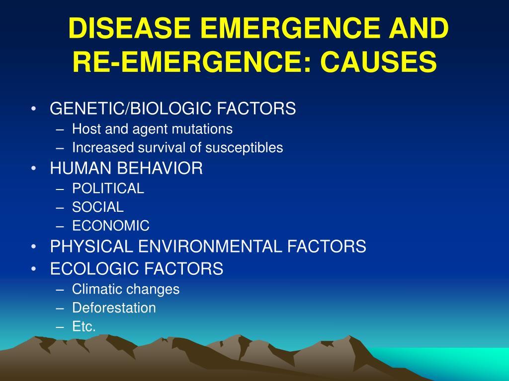 DISEASE EMERGENCE AND