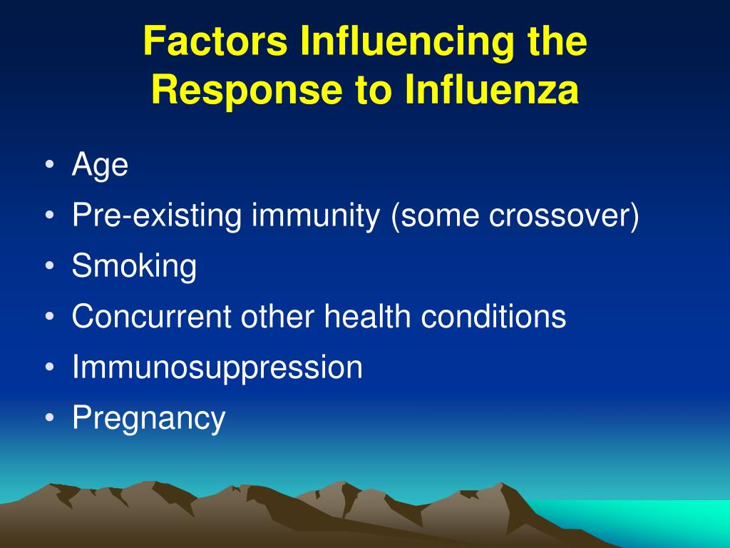 Factors Influencing the Response to Influenza