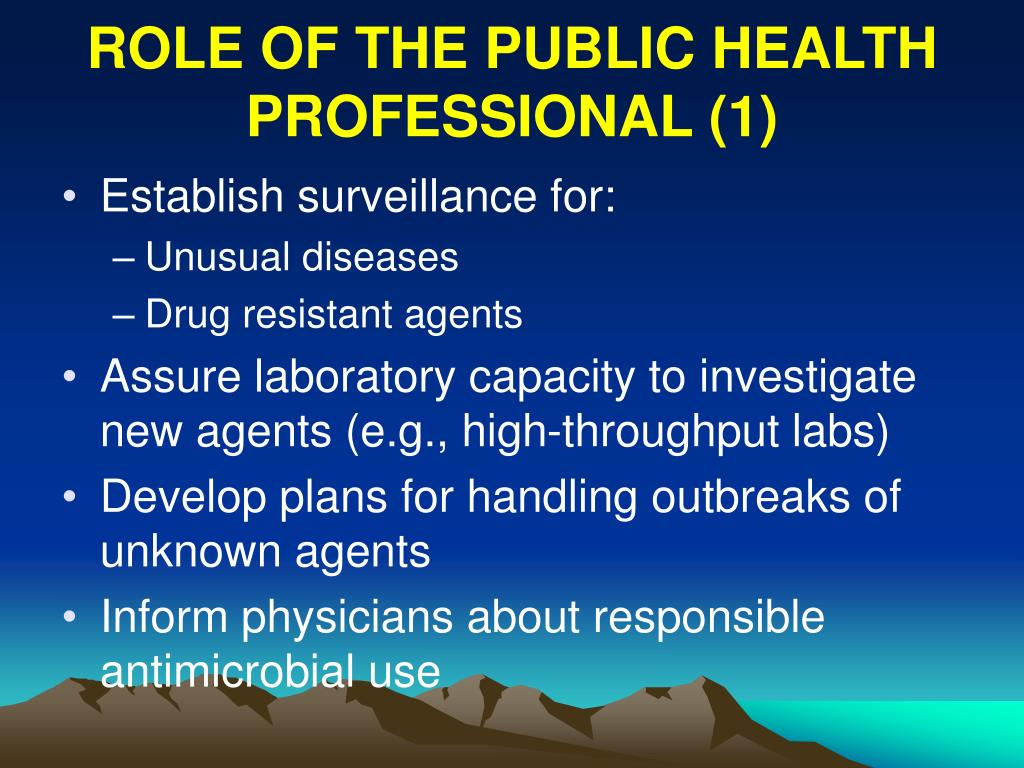 ROLE OF THE PUBLIC HEALTH PROFESSIONAL (1)