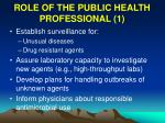 role of the public health professional 1