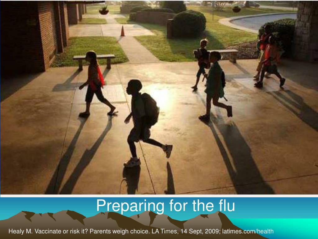 Preparing for the flu