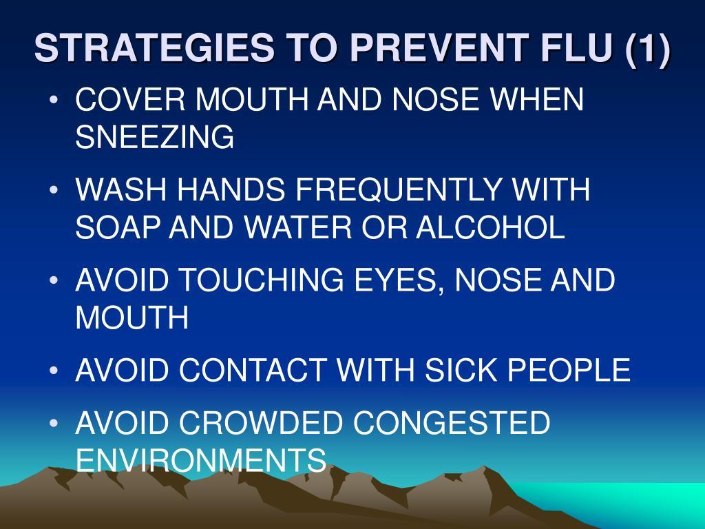 STRATEGIES TO PREVENT FLU (1)
