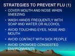 strategies to prevent flu 1