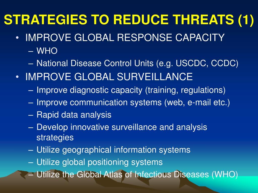 STRATEGIES TO REDUCE THREATS (1)