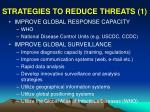 strategies to reduce threats 1