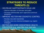 strategies to reduce threats 3