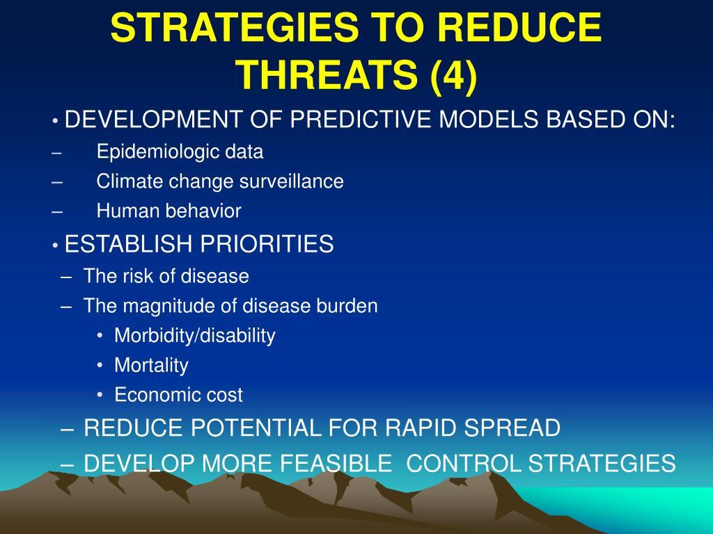 STRATEGIES TO REDUCE THREATS (4)