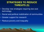 strategies to reduce threats 5
