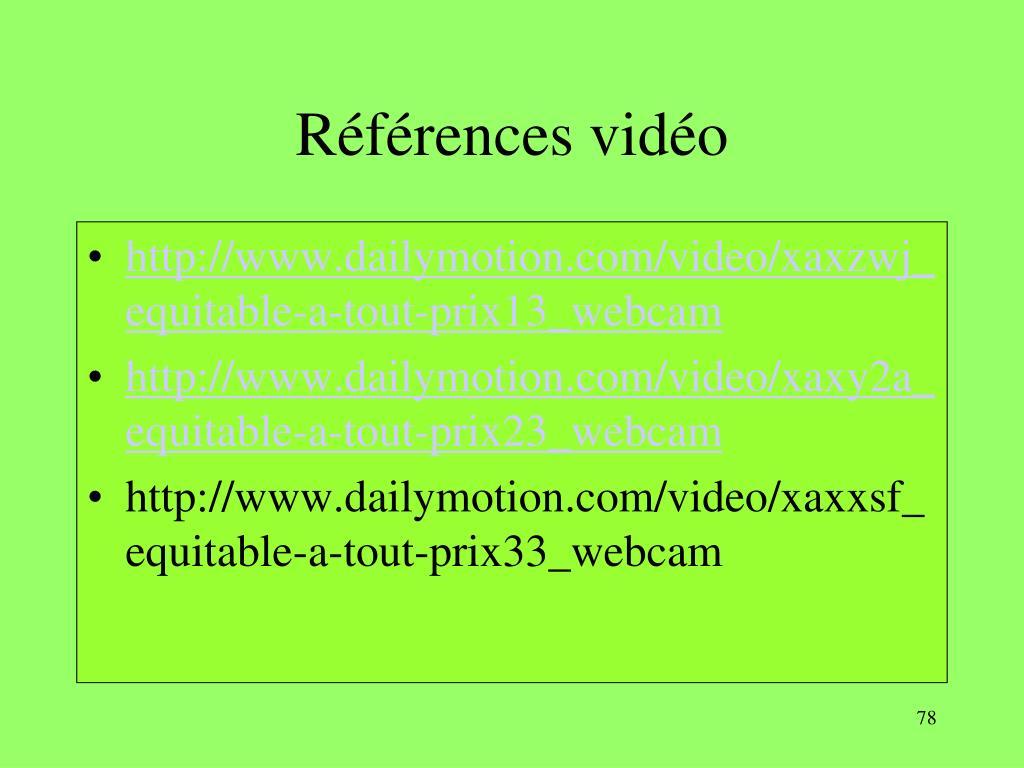 Références vidéo