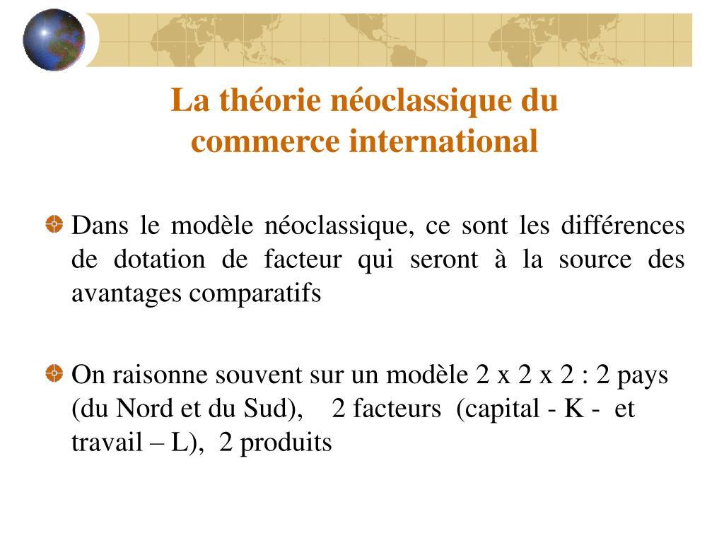 La théorie néoclassique du