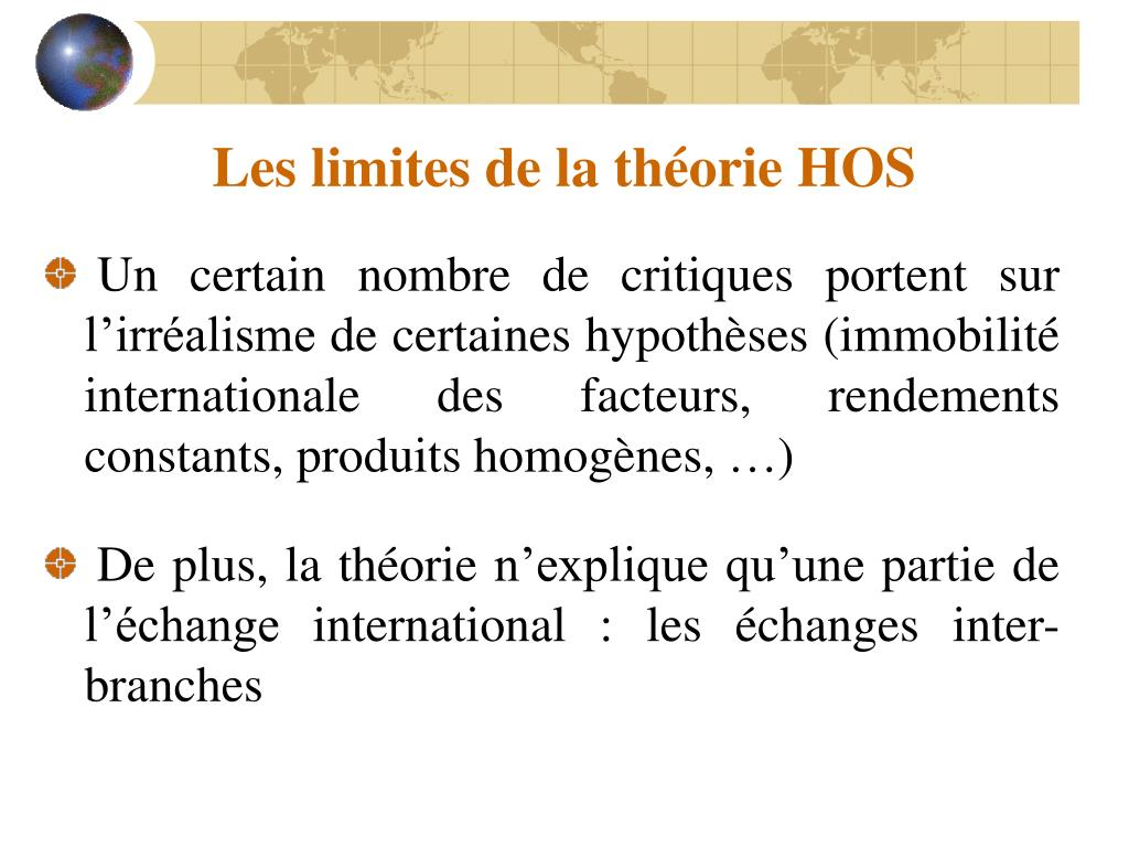 Les limites de la théorie HOS