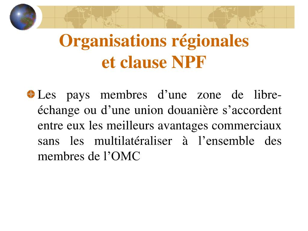 Organisations régionales