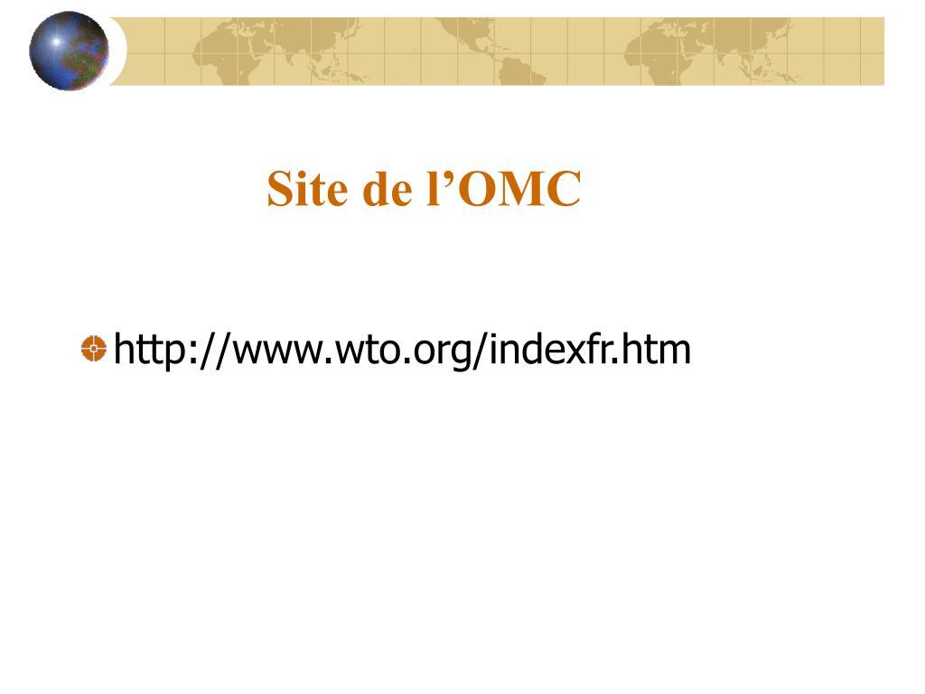 Site de l'OMC