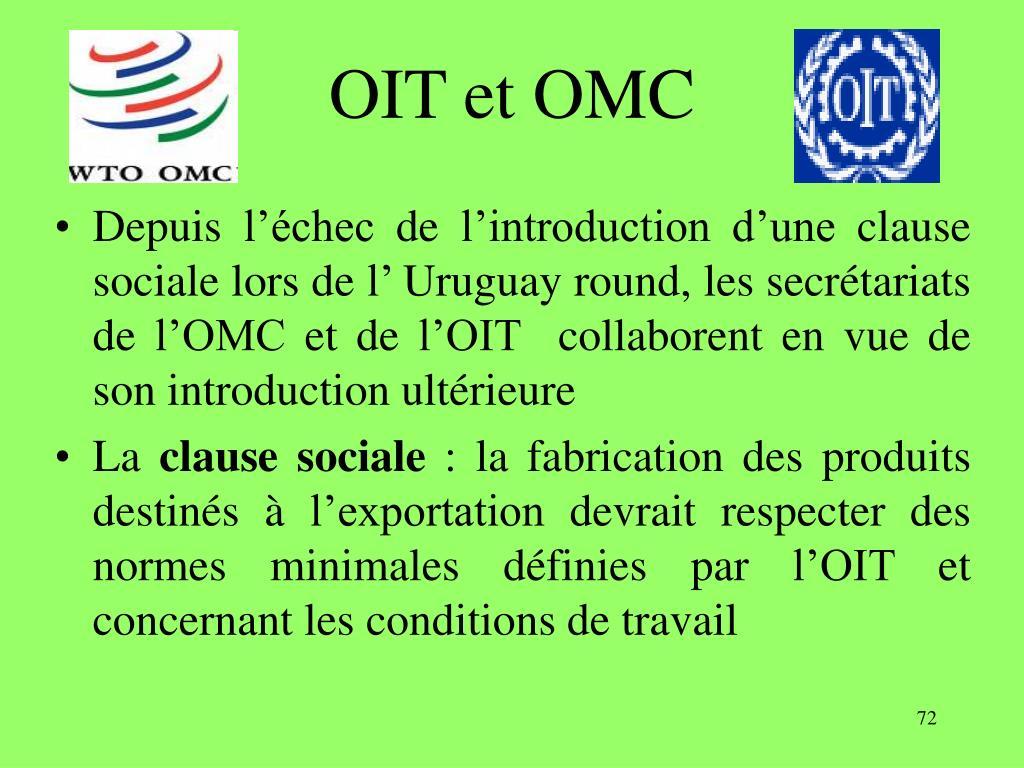 OIT et OMC