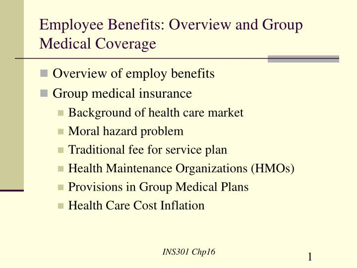 Employee benefits overview and group medical coverage