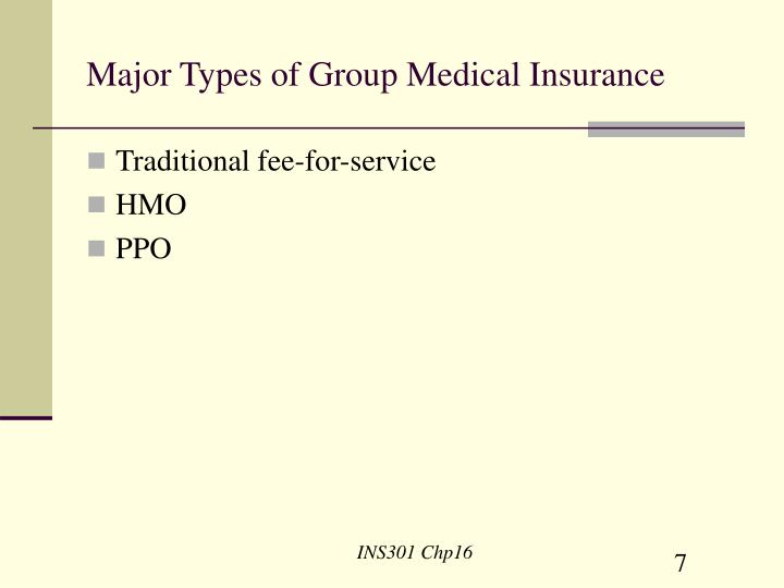 Major Types of Group Medical Insurance