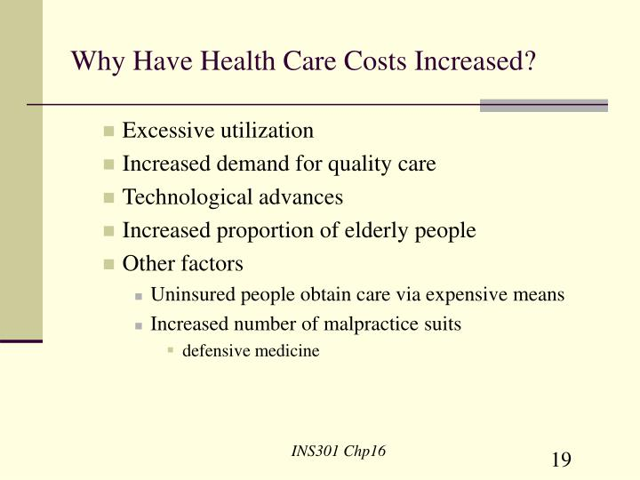 Why Have Health Care Costs Increased?