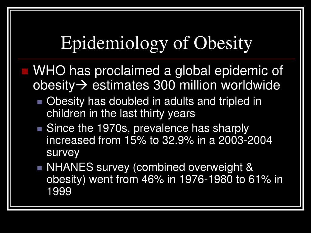 Epidemiology of Obesity