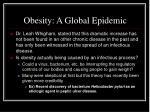 obesity a global epidemic