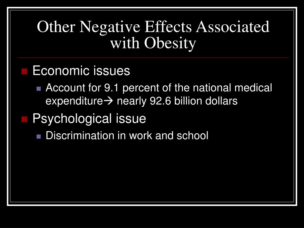 Other Negative Effects Associated with Obesity