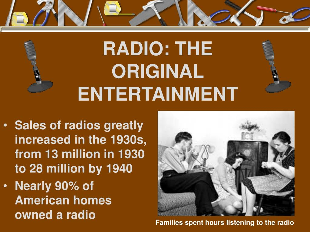 RADIO: THE ORIGINAL ENTERTAINMENT