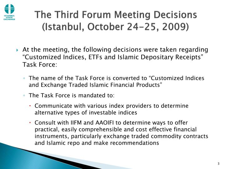 The third forum meeting decisions istanbul october 24 25 2009 l.jpg