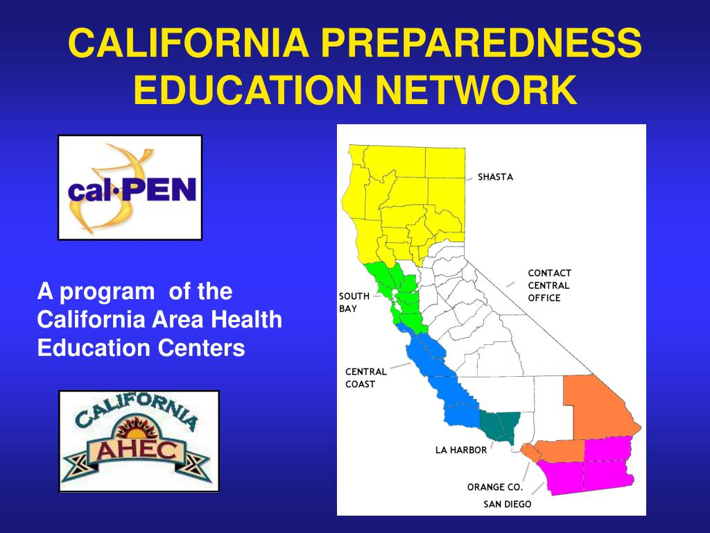 CALIFORNIA PREPAREDNESS EDUCATION NETWORK