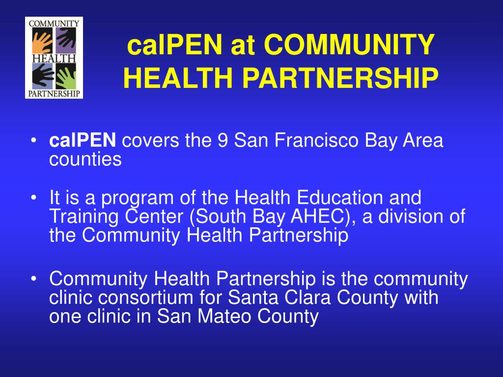 calPEN at COMMUNITY HEALTH PARTNERSHIP