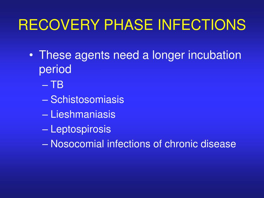 RECOVERY PHASE INFECTIONS