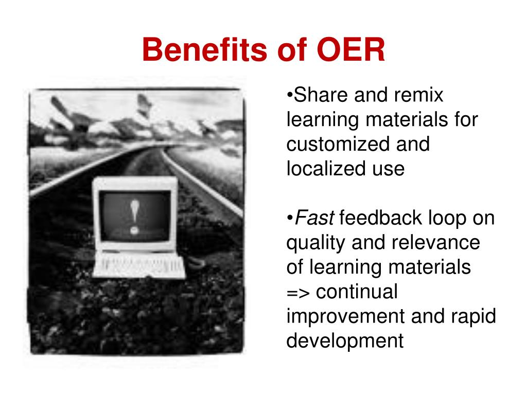 Benefits of OER