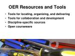 oer resources and tools