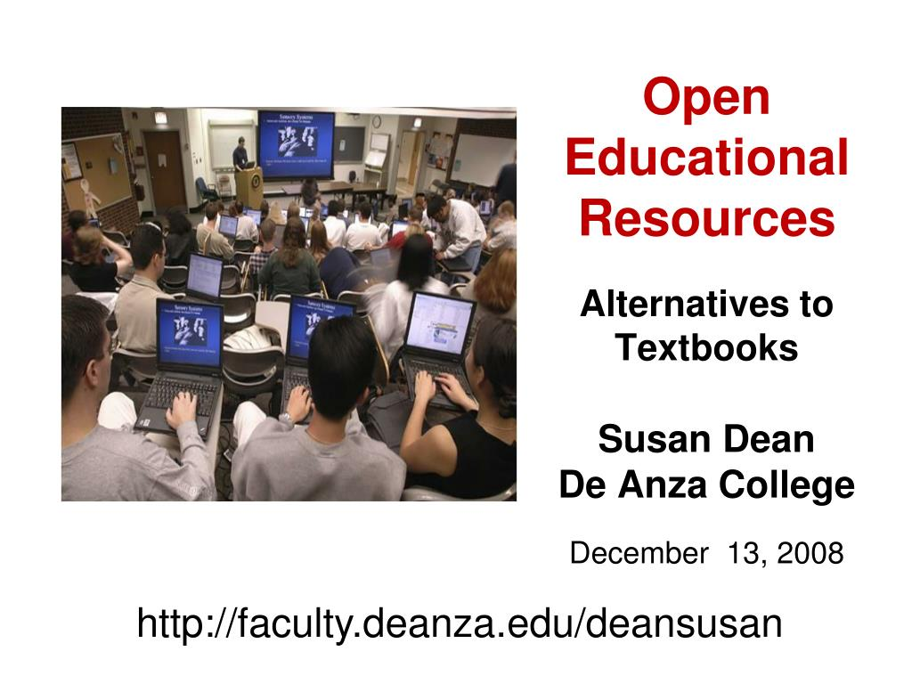 open educational resources alternatives to textbooks