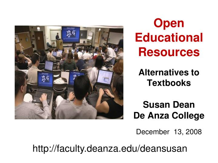 Open educational resources alternatives to textbooks l.jpg