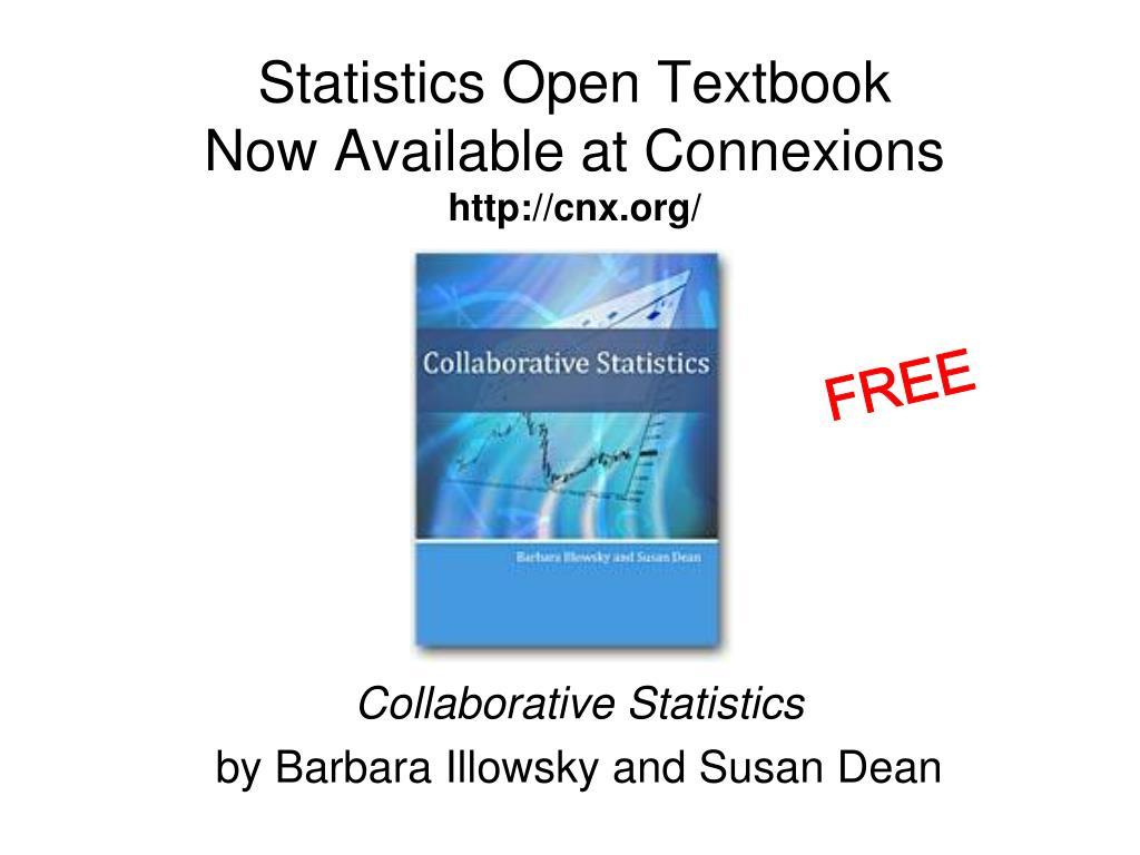 Statistics Open Textbook