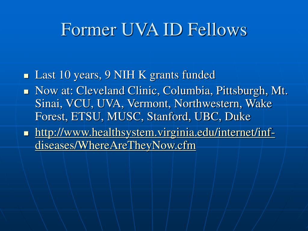Former UVA ID Fellows