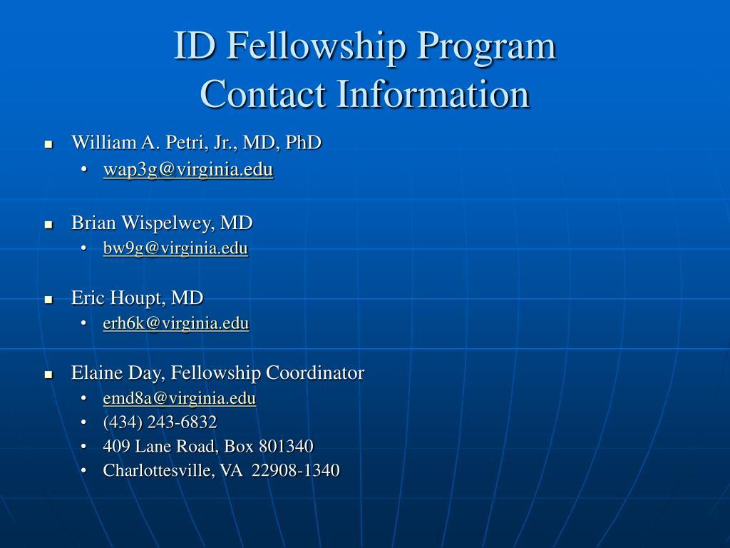 ID Fellowship Program