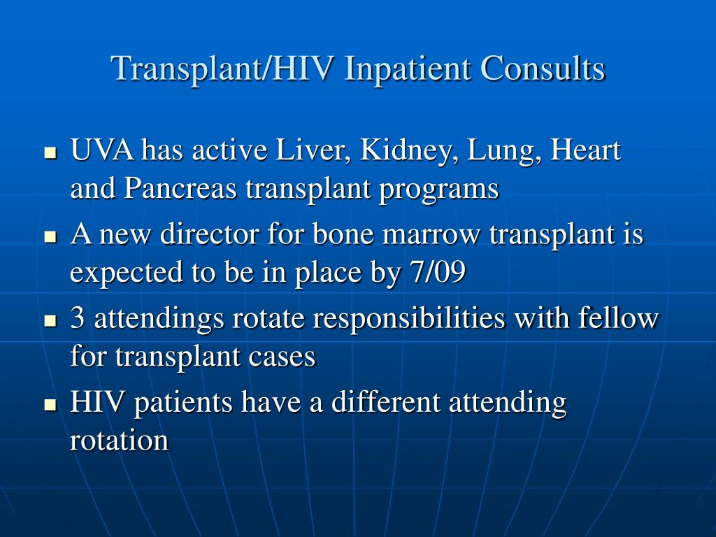 Transplant/HIV Inpatient Consults