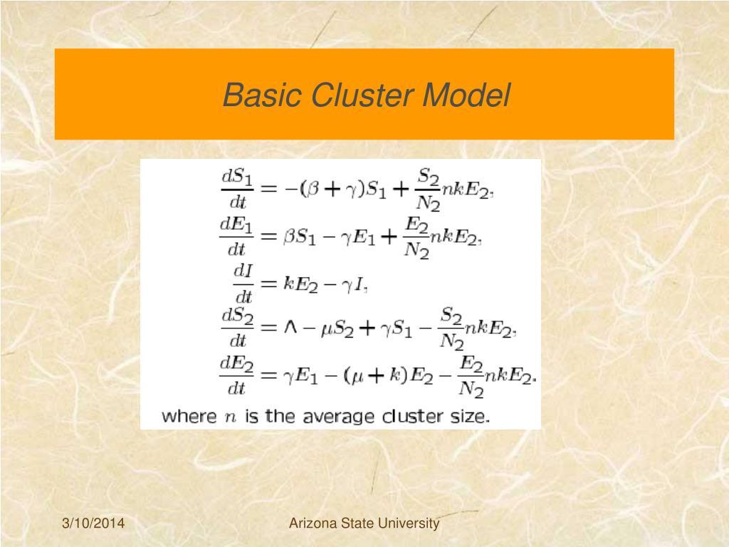 Basic Cluster Model